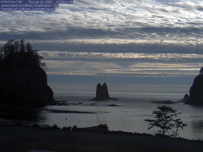 James Island Sea Stacks Webcam - Forks, WA